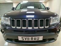 Jeep Compass 2.2 CRD Limited Blue Leather 4X4 DIESEL WARRANTY 12 MONTHS MOT FSH