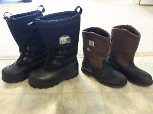 2 BOOTS FOR THE PRICE OF ONE DEAL, SOREL AND CARHARTT