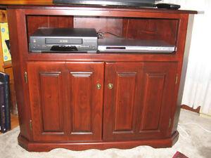 FREE!  Beautiful solid Mennonite built corner TV unit