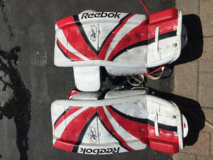 "Reebok Goalie 32"" Pads + Blocker and Trapper"