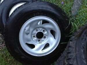 Firestone Winterforce tires with winter rims