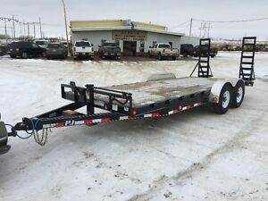 "PJ Trailer 20' X 6"" Channel Custom Carhauler - 2017"