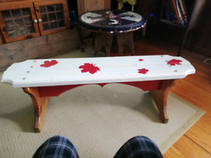 Canadian flag bench