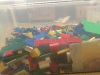 Large box of Lego open to offers