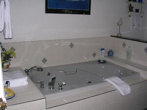 Grey jetted drop-in tub Prince George British Columbia image 4