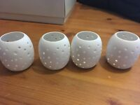 Ceramic tea light holders