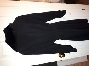 Black jacket with removable winter liner Size 10