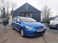 Peugeot 307 1.6 HDI 110 S FAP A/C (blue) 2004