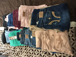 14 pairs of size 4 jeans