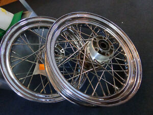 2 Harley spoke rims    recycledgear.ca