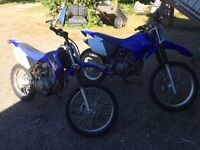 (((( PACKAGE DEAL TWO TTR 4 STROKE DIRT BIKES 1@ 125 1@ 230 hp