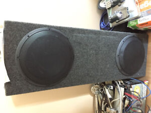 "2 - 12"" JL audio subs and box"