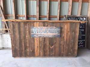 Reclaimed wood bar - great for wedding/ cottage/ basement