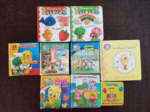 Lot de Méga Blocks, Biblio-pomme et livres bébé