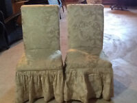 Pair of Upholstered Parson Chairs