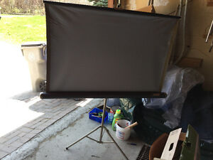 Portable Sears projection screen