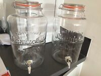 Glass 8lt dispenser containers with tap