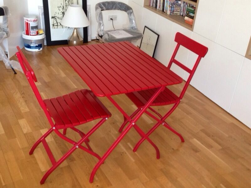 Ikea Garden Table Amp 2 Chairs For Half Price Malaro Red