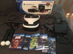 VR playstation + skyrim and 4 games
