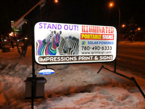 PORTABLE ILLUMINATED SIGNS