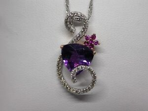 Amethyst Pendant w/chain ,  ONE OF A KIND