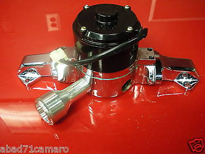 New Small Block Ford Electric Water Pump  5.0 302 351w High Volume Flow Polished