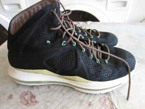 Nike Lebron 10 EXT Black Suede Basketball Shoes Size 11