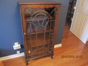 Old Very Nice Wooden Display Cabinet