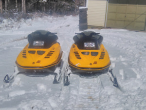 Pair of 1993 Mxz 470 sleds