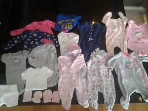 Newborn Baby Girl Clothes Lot