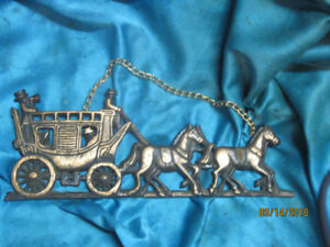 Decorative Hanging Brass Stagecoach