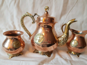 Vintage Copper tea set from Pakistan