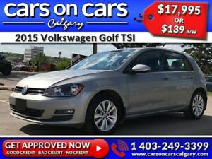 2015 Volkswagen Golf TSI w/Heated Leather, BackUp Cam, BlueTooth