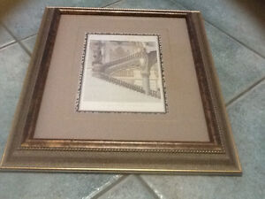 Pair of framed prints of Le Nouvel Opera de Paris London Ontario image 2