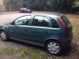 Vaux corsa 1400 cc 2003 cheap insurance long mot
