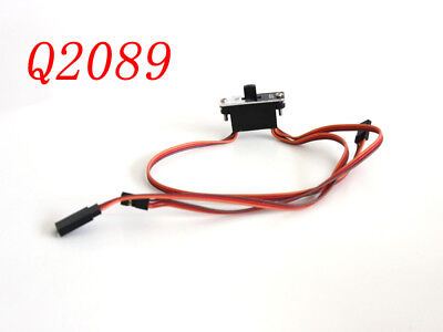 3 Way Metal Heavy Duty Power on off Switch RC Receiver With Jr Wire Harness - Heavy Duty Switch Harness