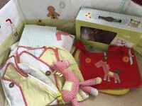 Mamas and papas - unisex nursery collection - gingerbread £30 ONO