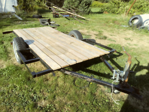 I have a snowmobile trailer project for sale.