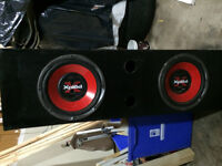 2 subwoofers in abox with Autotex amplifier