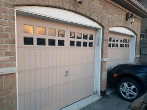 Used GARAGE DOORS 250.00 8 X 7 W/ WINDOWS COMPLETE