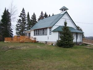 Renovated 1899 school house on St Joseph Island