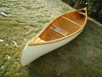 Canoe, 3 fully restored vintage 16' cedar wood canvas canoes,