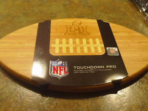 Official NFL branded BBQ set and cutting board. Superbowl