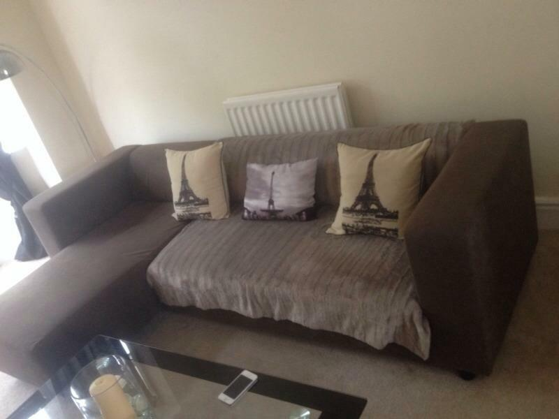 Brown Swade Corner Sofa In Middlesbrough North