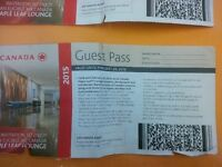 Two Maple Leaf Lounge Passes/Air Canada