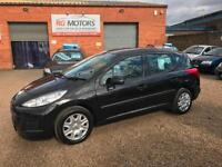 2011 Peugeot 207 SW 1.6 HDi S 92 ( a/c ) FAP Black 5dr Estate **ANY PX WELCOME**