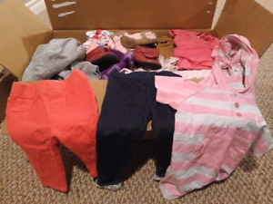 Girls baby clothes (mixed box, 6-12 months)