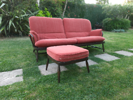 Ercol Jubilee Sofa Daybed & Footstool Retro Delivery Available
