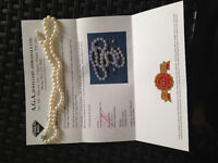 Gorgeous, Lustrous White Cultured Pearls - Appraised at $2210