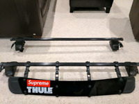 MK5 Jetta , Thule roof rack with wind fairing and locks